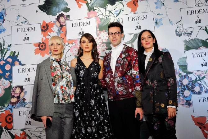 Emina Jahović sa predstavnicima kompanije HM Čaroban svet ERDEM x H&M kolekcije stigao i u Srbiju
