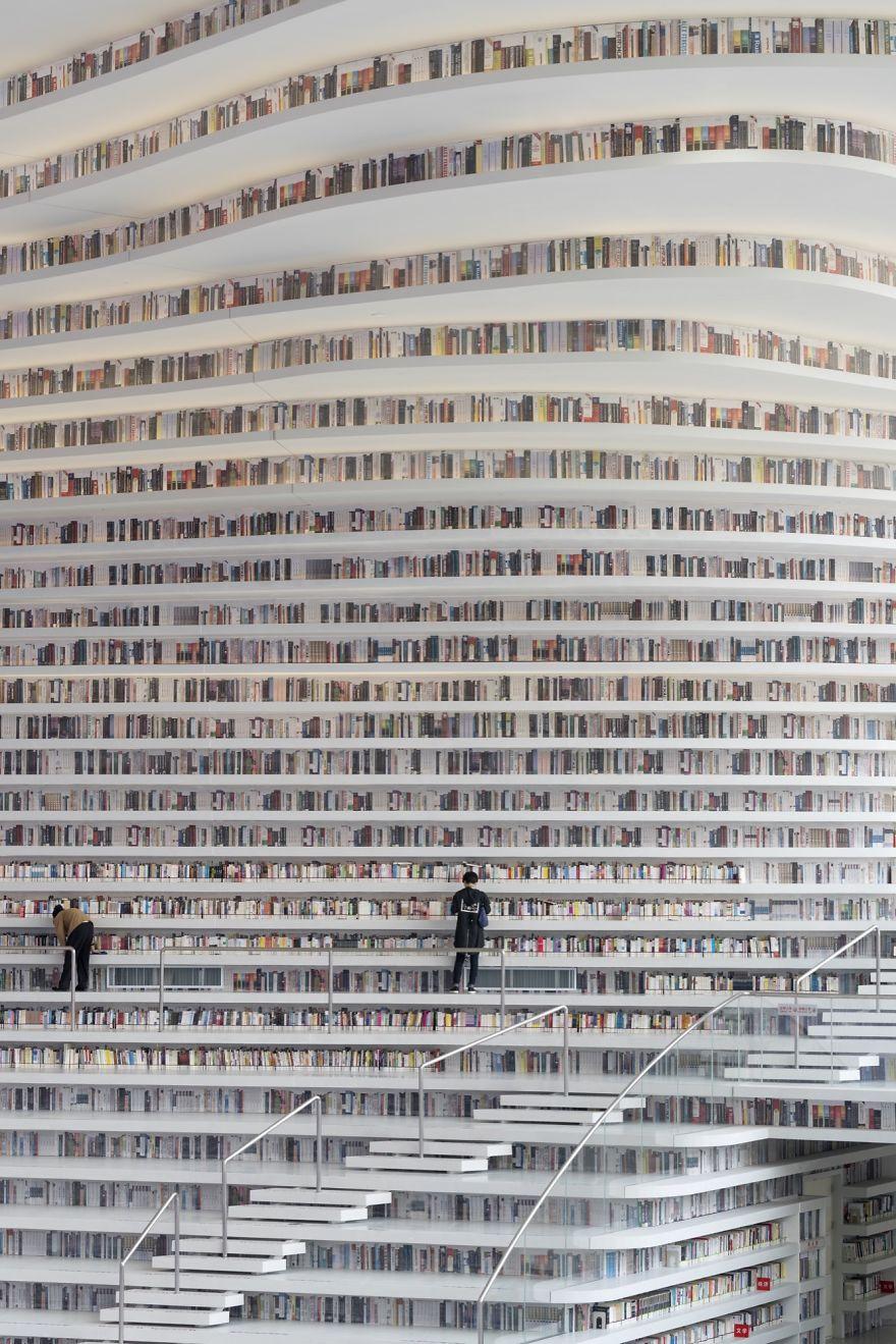 biblioteka u kini2 Novo svetsko čudo: Futuristička biblioteka u Kini neobičnog enterijera