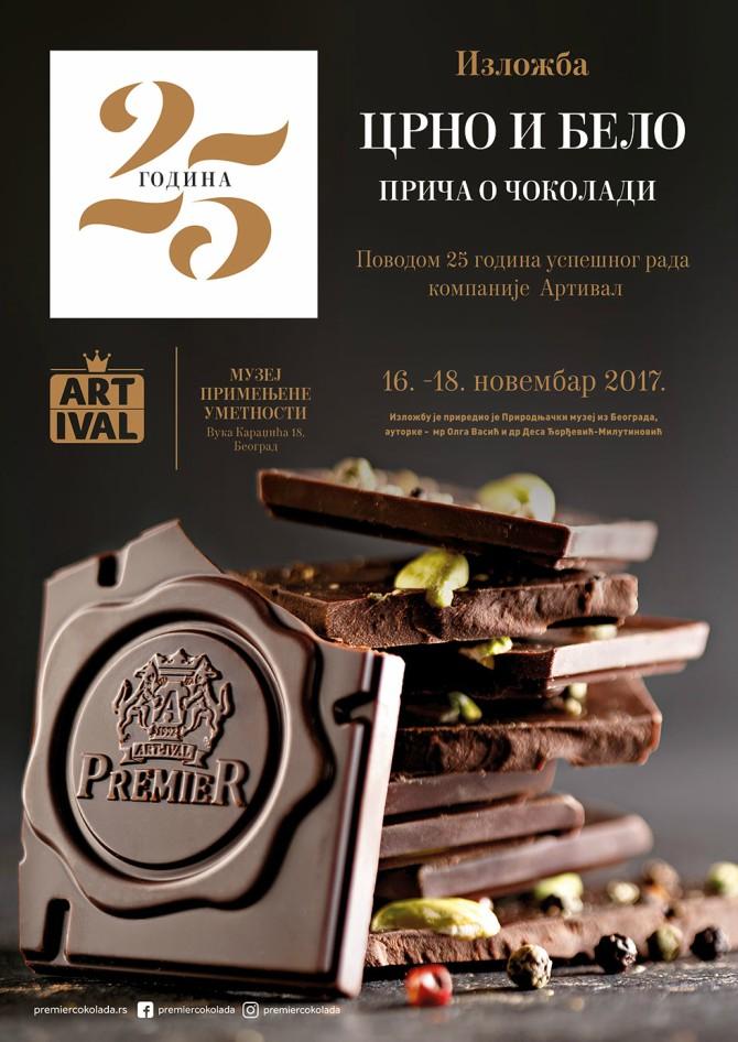 cokolada Kompanija Art Ival poklanja svim ljubiteljima čokolade izložbu pod nazivom CRNO I BELO – PRIČA O ČOKOLADI