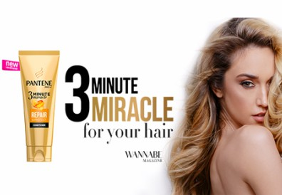 Wannabe editorijal: 3 Minute Miracle For Your Hair