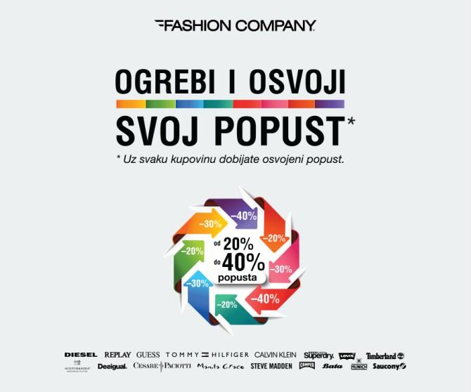 popust U prodavnicama Fashion Company je startovala akcija OGREBI & OSVOJI POPUST