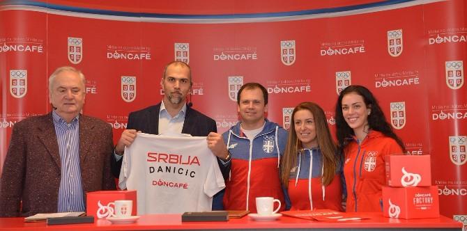 Potpisivanje ugovora Strauss Adriatic i OKS 1 2 Doncafé zvanična kafe Olimpijskog tima Srbije