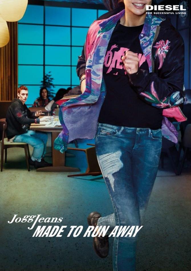 Diesel SS18 JoggJeans campaign FEMALE Vertical 1 DIESEL JOGGJEANS kampanja STVORENE ZA BEKSTVO