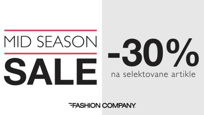 670 Mid season sale  Modno proleće u prodavnicama Fashion Company uz 30% popusta