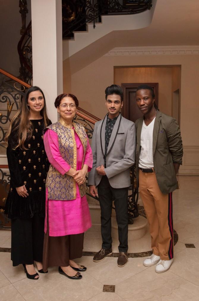 Anupreet Sidhu Narinder Čauhan Kamran Patel Džozef Toronka 1 Prijem u rezidenciji ambasade Indije