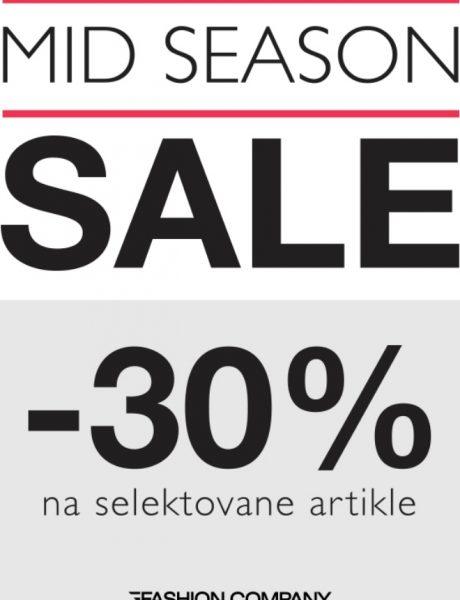 Mid season sale- Modno proleće u prodavnicama Fashion Company uz 30% popusta