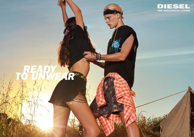 DIESEL SS18 UNWEAR SPREAD Festival Diesel lansirao novu ironičnu letnju kampanju
