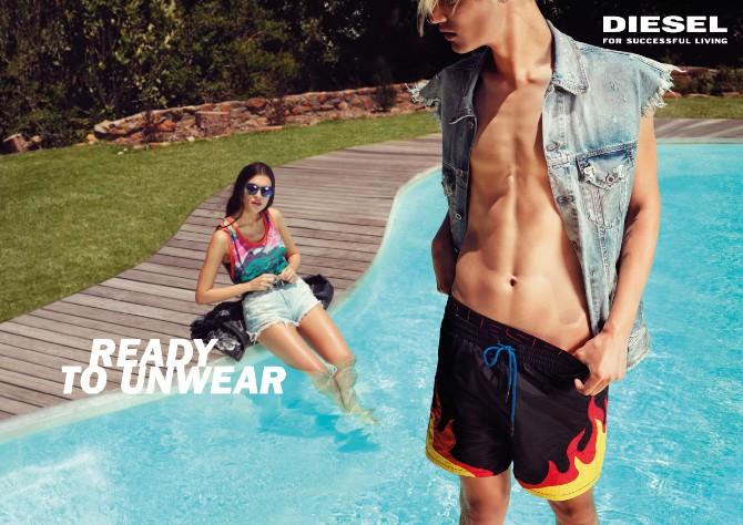 DIESEL SS18 UNWEAR SPREAD Pool Diesel lansirao novu ironičnu letnju kampanju