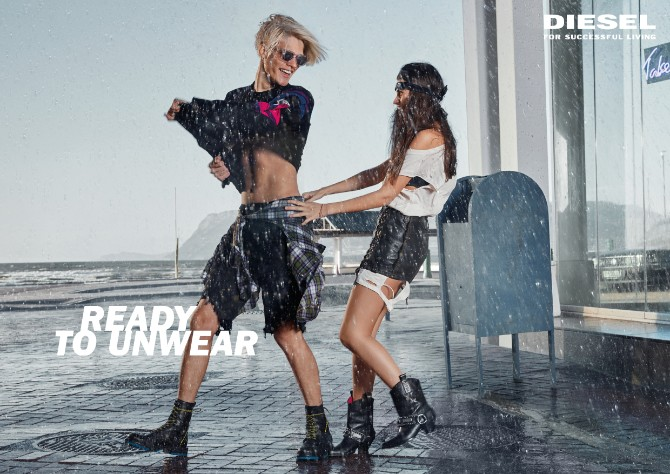 DIESEL SS18 UNWEAR SPREAD Rain Diesel lansirao novu ironičnu letnju kampanju