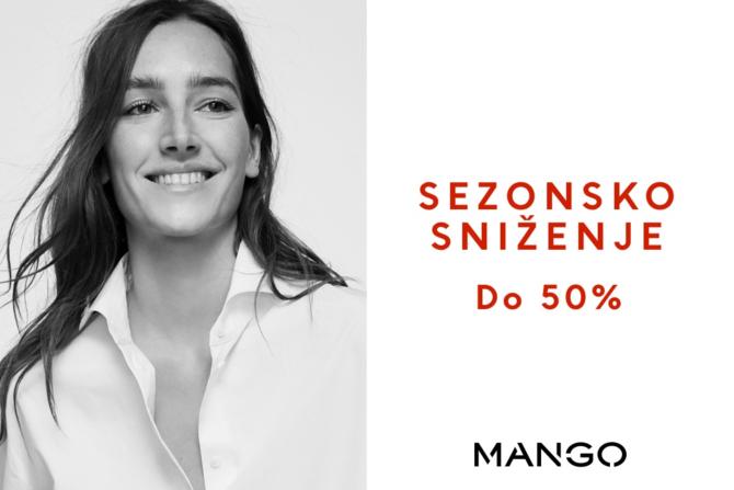 MANGO sezonsko sniženje do 50 MANGO sezonsko sniženje do 50%