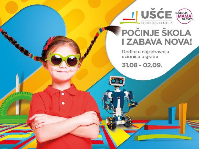 USCE BTS 2018 1024x768 e1535528886879 Najzabavnija učionica u gradu: Festival Počinje škola! u Ušče Shopping Centru