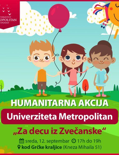 """Za decu iz Zvečanske"" – još jedna humanitarna akcija Univerziteta Metropolitan"