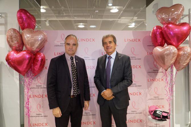 2. Ambasador Švedske g. Jan Lundin i predsednik kompanije Triple jump g. Milan Spasojević e1540392105520 Lindex sa svojim kupcima nastavlja zajedničku borbu protiv raka dojke