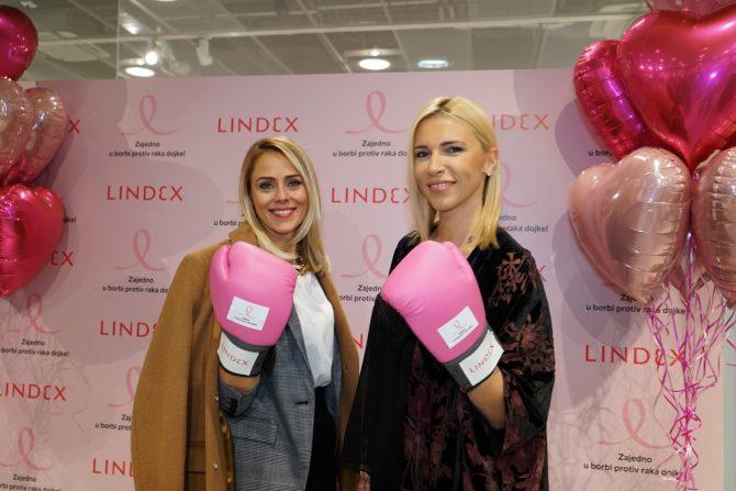 4. Dušica Spasić i Irina Vukotić e1540392254777 Lindex sa svojim kupcima nastavlja zajedničku borbu protiv raka dojke