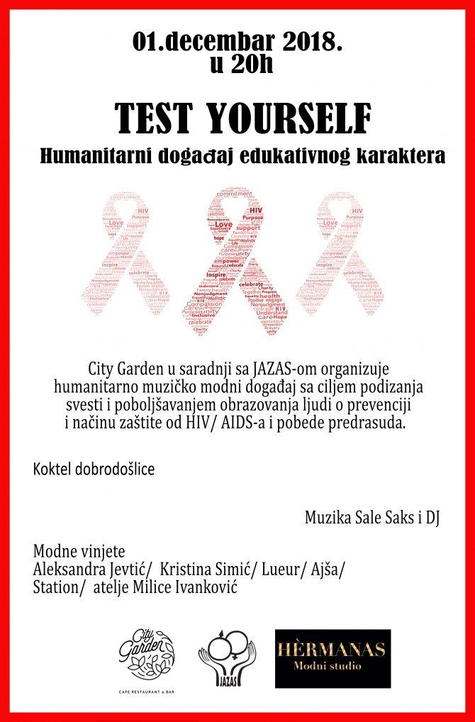 Pozivnica  e1543413237211 TEST YOURSELF: Humanitarni događaj edukativnog karaktera
