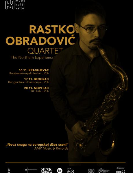 Koncert kvarteta saksofoniste Rastka Obradovića u Beogradskoj filharmoniji
