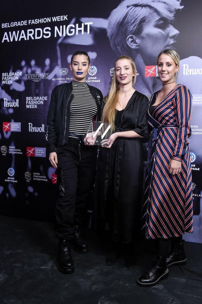 Sonja Jocic Wannabe magazine nagrada e1542285383587 Uručene nagrade 44. Belgrade Fashion Week a