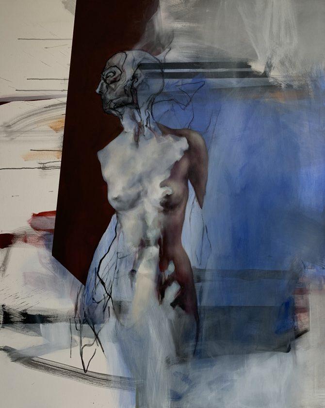 Una Nikolic II.OI  e1543332995876 Natalija, Una i Jovana, o izložbi Figura kroz misao i odnosu između slikarstva i fotografije