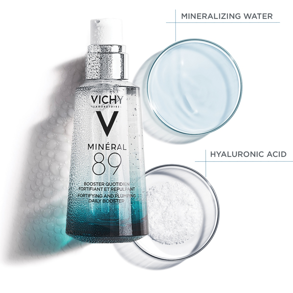 VICHY MINERAL 89 Fortifying and Plumping Daily Booster NM PACK 2 CUPS 2 Vichy Minéral 89