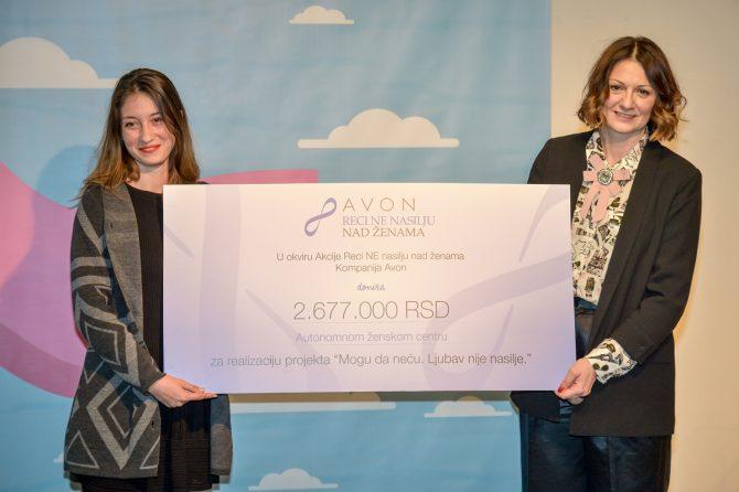 Donacija kompanije Avon za realizaciju projekta Mogu da neću. Ljubav nije nasilje. e1551870941516 Znanjem i osnaživanjem u borbi protiv nasilja nad ženama