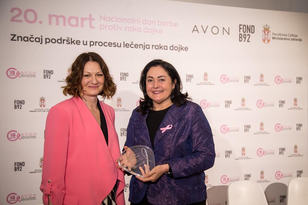Vesna Imbronjev dobitnica nagrade za izuzetan doprinos u borbi protiv raka dojke Rano otkriven rak dojke je izlečiv!