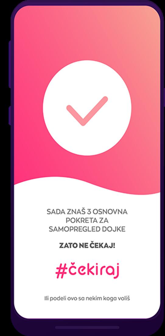 Aplikacija Čekiraj 5 Jednostavan metod provere grudi kroz 3 koraka: #Čekiraj se na Svetski dan zdravlja!