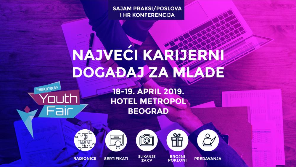 Belgrade Youth Fair 2019 e1554455617993 Belgrade Youth Fair 2019: Najveći karijerni događaj u regionu, 18. i 19. aprila u Beogradu
