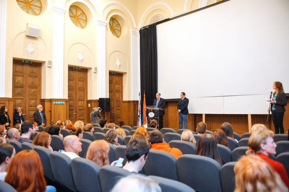 Festival italijanskog filma ambasador Karlo Lo Kaso Marjan Vujovic upravnik muzeja Kinoteke e1558532119657 Otvoren Festival italijanskog filma u Beogradu