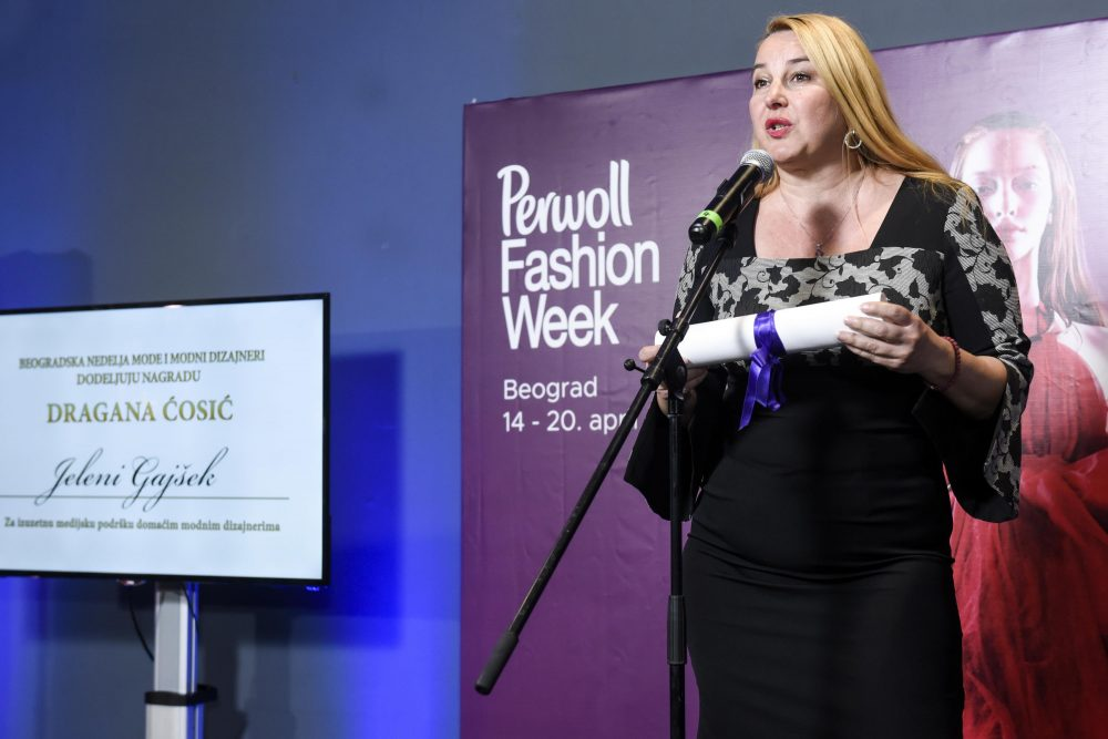 Jelena Gajsek dobitnica nagrade Dragana Cosic e1557485330881 Nagrađeni najbolji učesnici Perwoll Fashion Week a