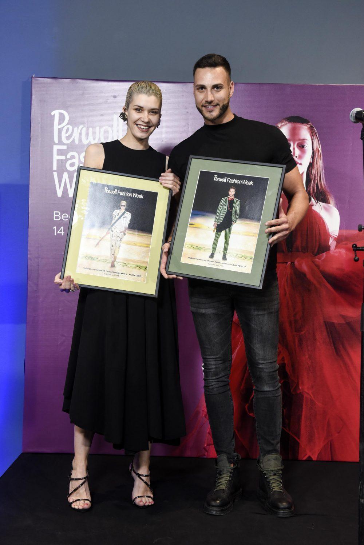 Milica Lesic Dusan Petrov najbolji manekeni e1557485485685 Nagrađeni najbolji učesnici Perwoll Fashion Week a