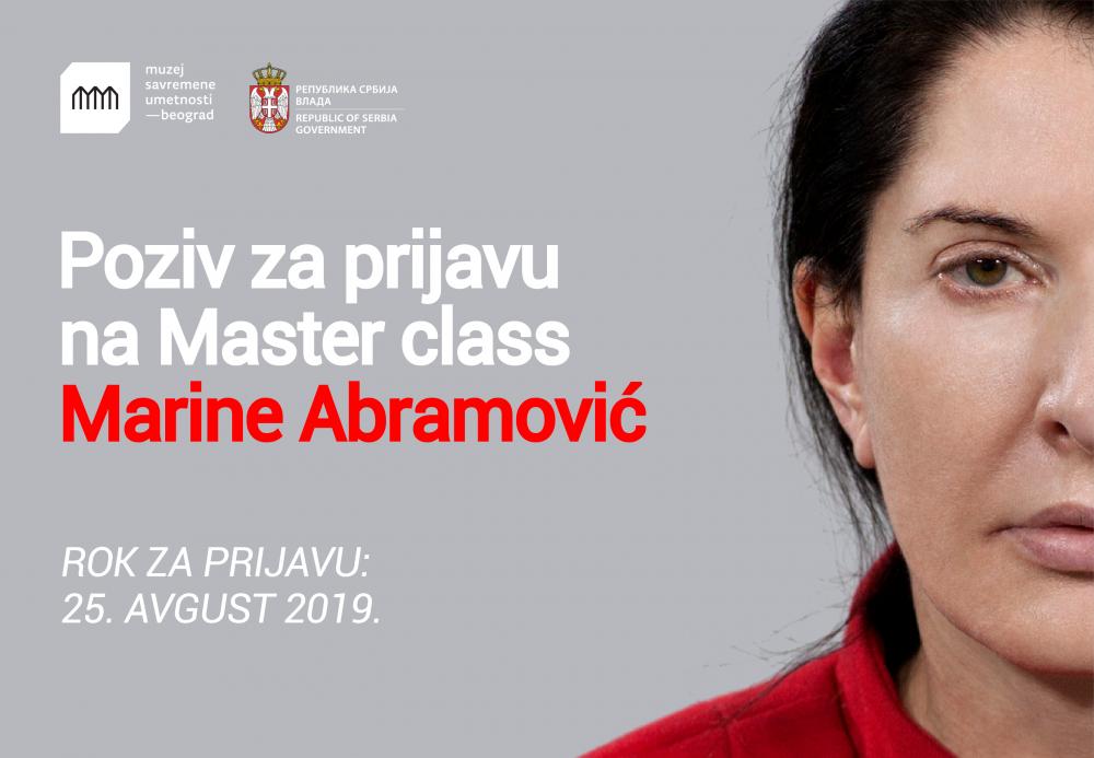 Marina Master class e1564402634162 Marina Abramović poziva mlade umetnike iz Srbije na trodnevni Master class