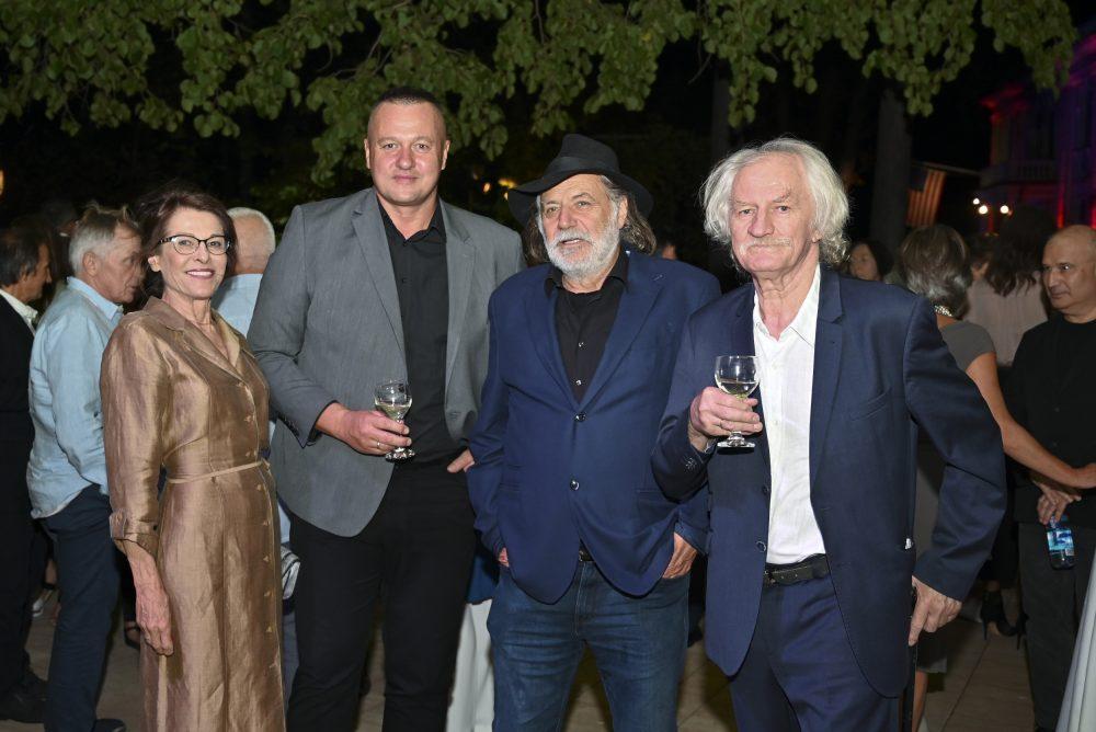 Beba Marinković Robert Čoban Rade Šerbedžija Milan Cile Marinković e1568637988933 Fashion Company prikazao nove kolekcije na Večeri američke mode u Srbiji