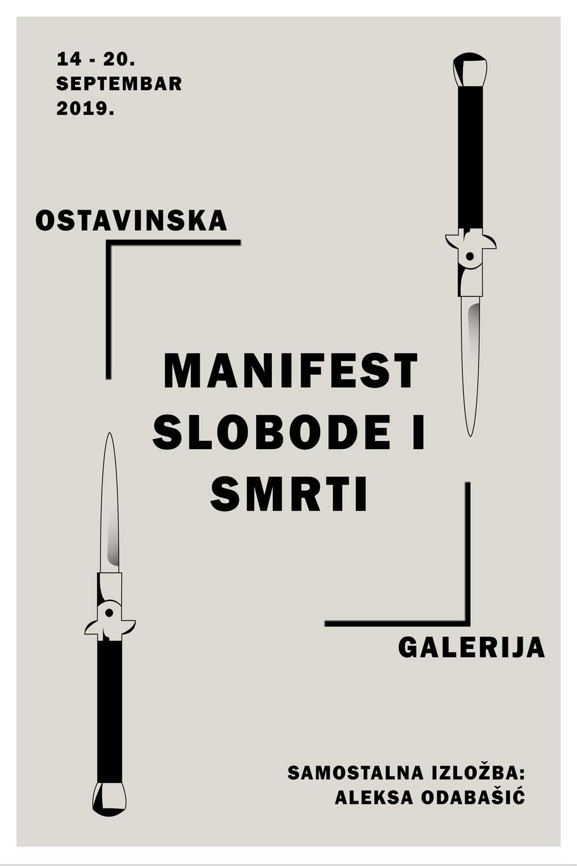 Vizual MANIFEST SLOBODE I SMRTI: Otvaranje izložbe Alekse Odabašića