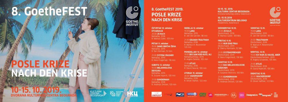 GoetheFEST 2019 naslovna i program 1 e1570530517326 8. GoetheFEST 2019. Posle krize   Nach Den Krise