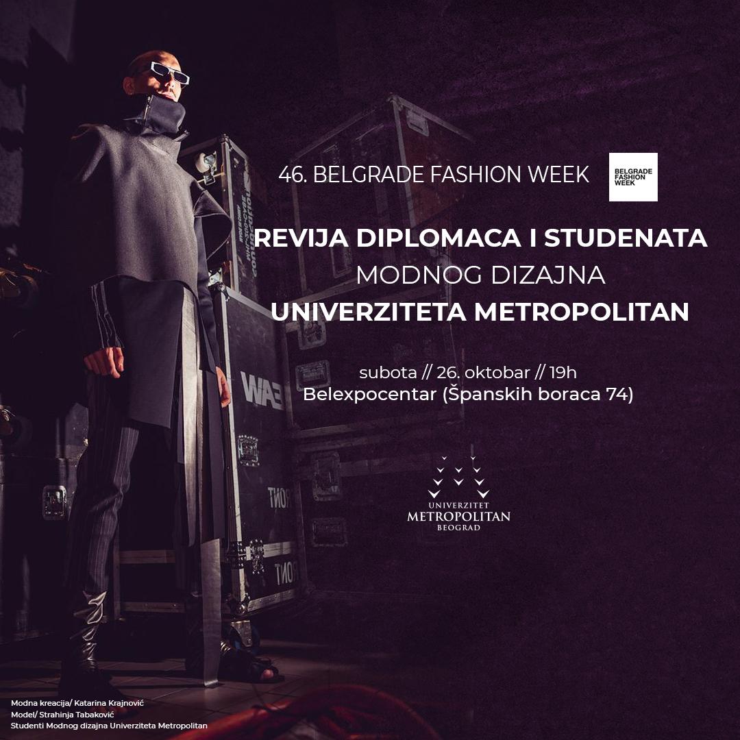 bfw revija instapost Diplomci i studenti četvrte godine Modnog dizajna na 46. Belgarde Fashion Week u