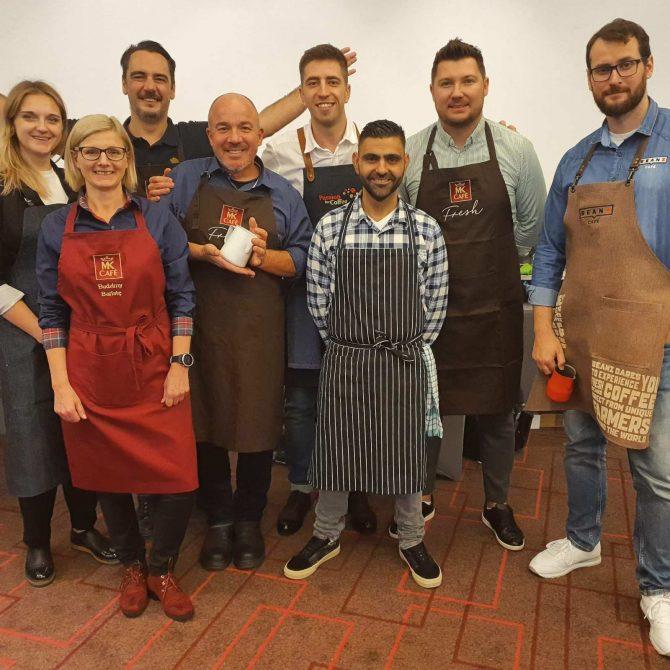 SA Strauss Coffee Barista takmicari e1573817944610 Strauss Coffee održao takmičenje za najboljeg baristu 2019. Pobednik Aleksander Lekomtsev iz Ukrajine