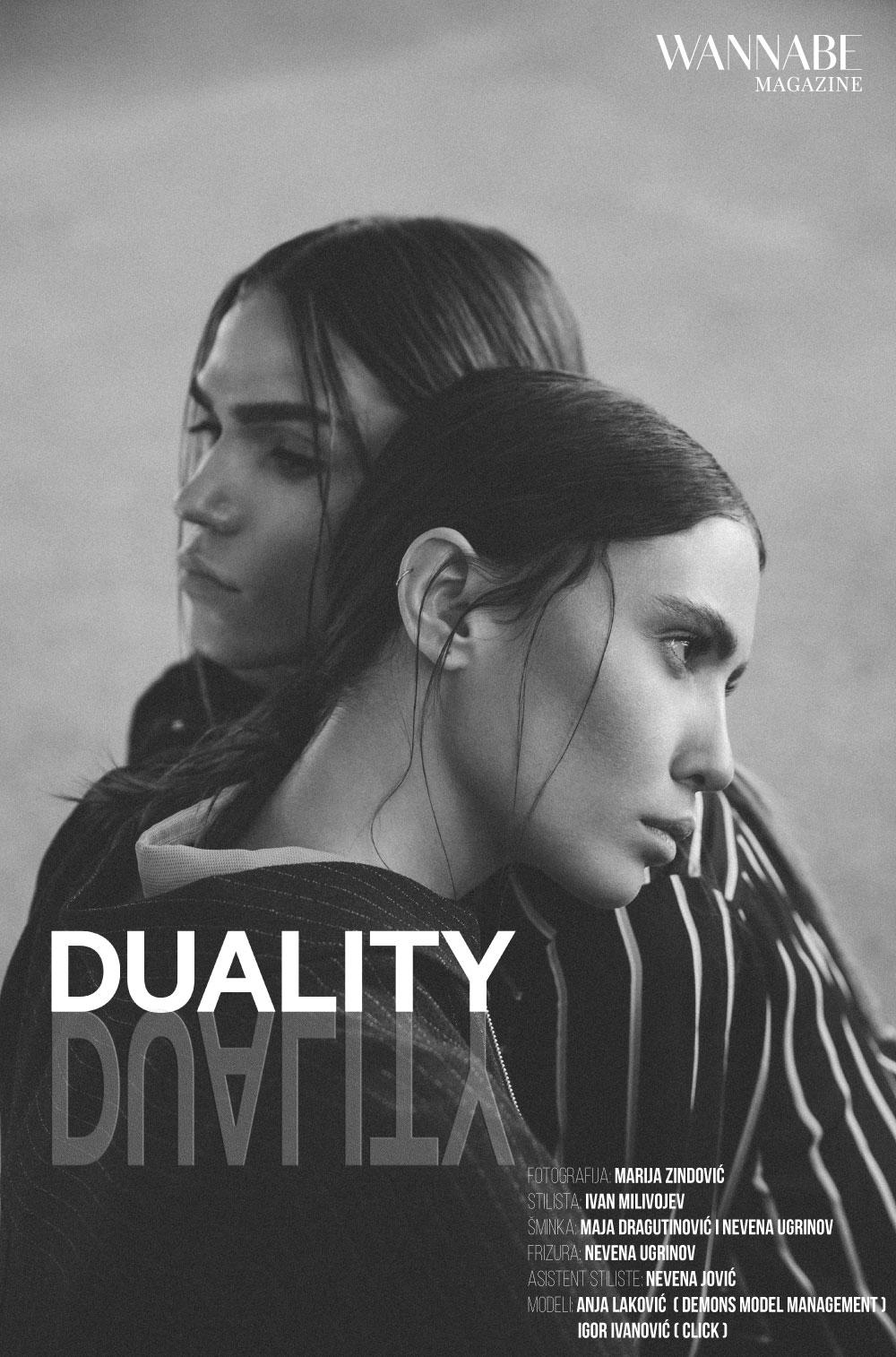 naslovna duality WANNABE EDITORIJAL: Duality