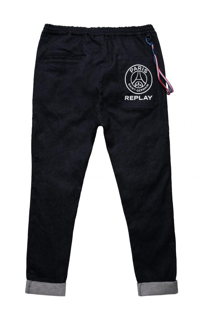 PSG JOG PANT BACK e1579786099136 Replay x Paris Saint Germain: Nova denim kolekcija