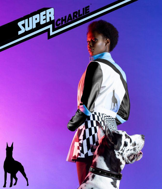 tatjana ostojic leather jacket dog crop e1583934756704 Tatjana Ostojić: Super Charlie može biti bilo ko. A donosi nam puno boja, oblika i odlučan stav.