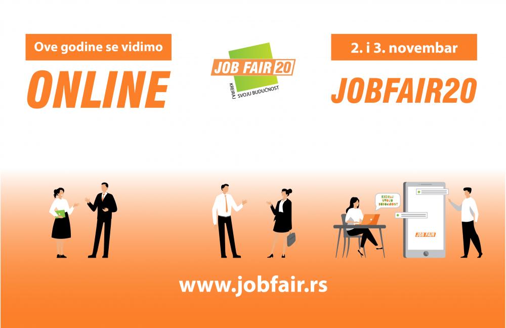 JobFair20 e1600334535307 Sajam poslova i praksi JobFair ─ Kreiraj svoju budućnost!
