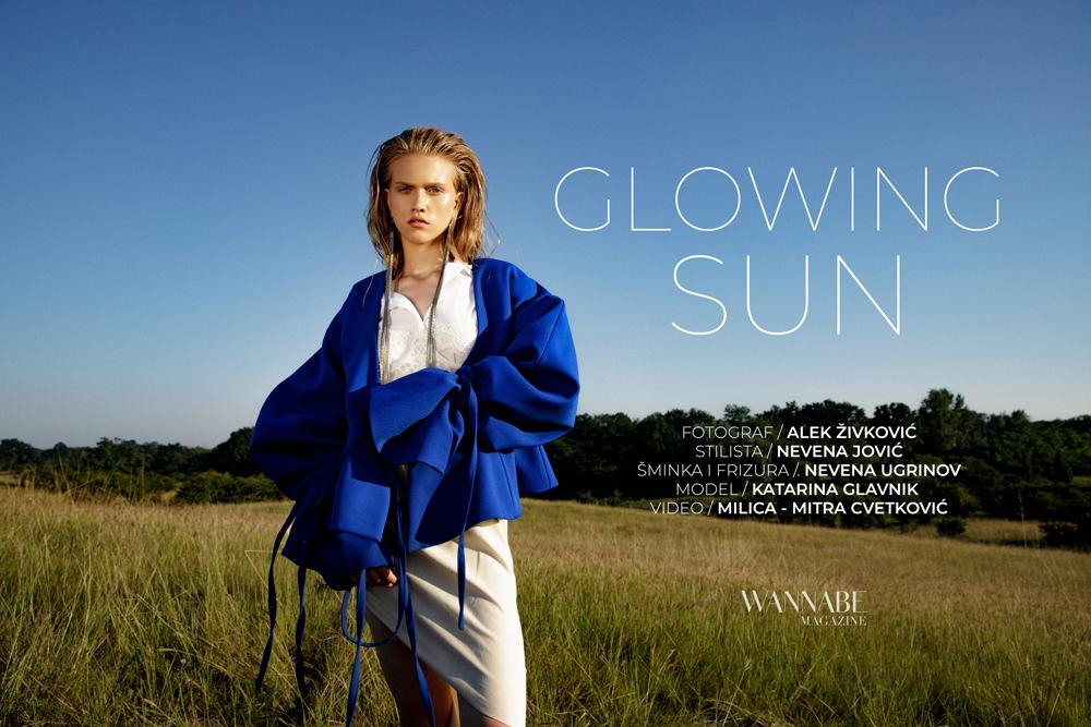 0 NASLOVNA EDITORIALA  WANNABE EDITORIJAL: Glowing Sun