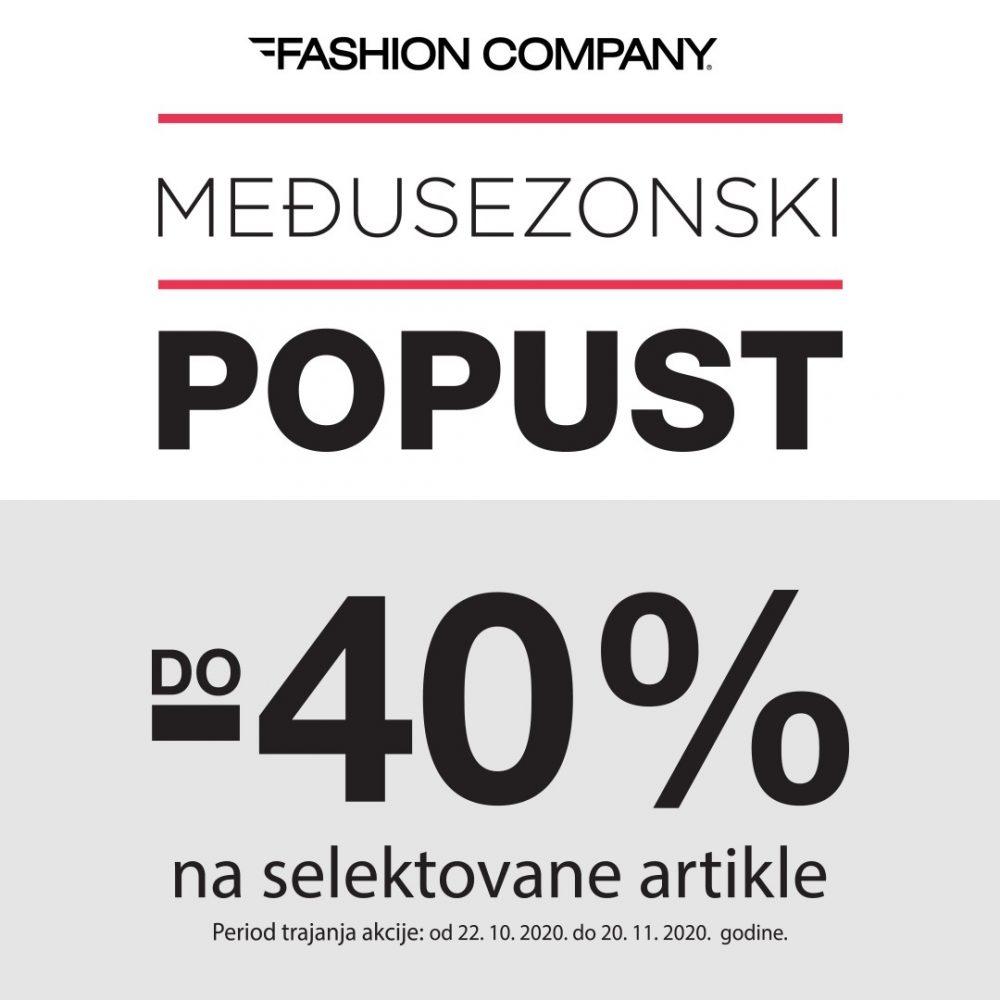 Međusezonski popust e1603375598709 Veliki popust u Fashion Company prodavnicama   do 40%