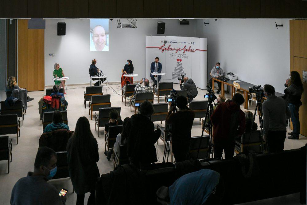 DSC 7461 e1606562992463 Održana konferencija za medije povodom otvarnja izložbeLjubav je ljubav: radost venčanja za sve Žan Pol Gotje