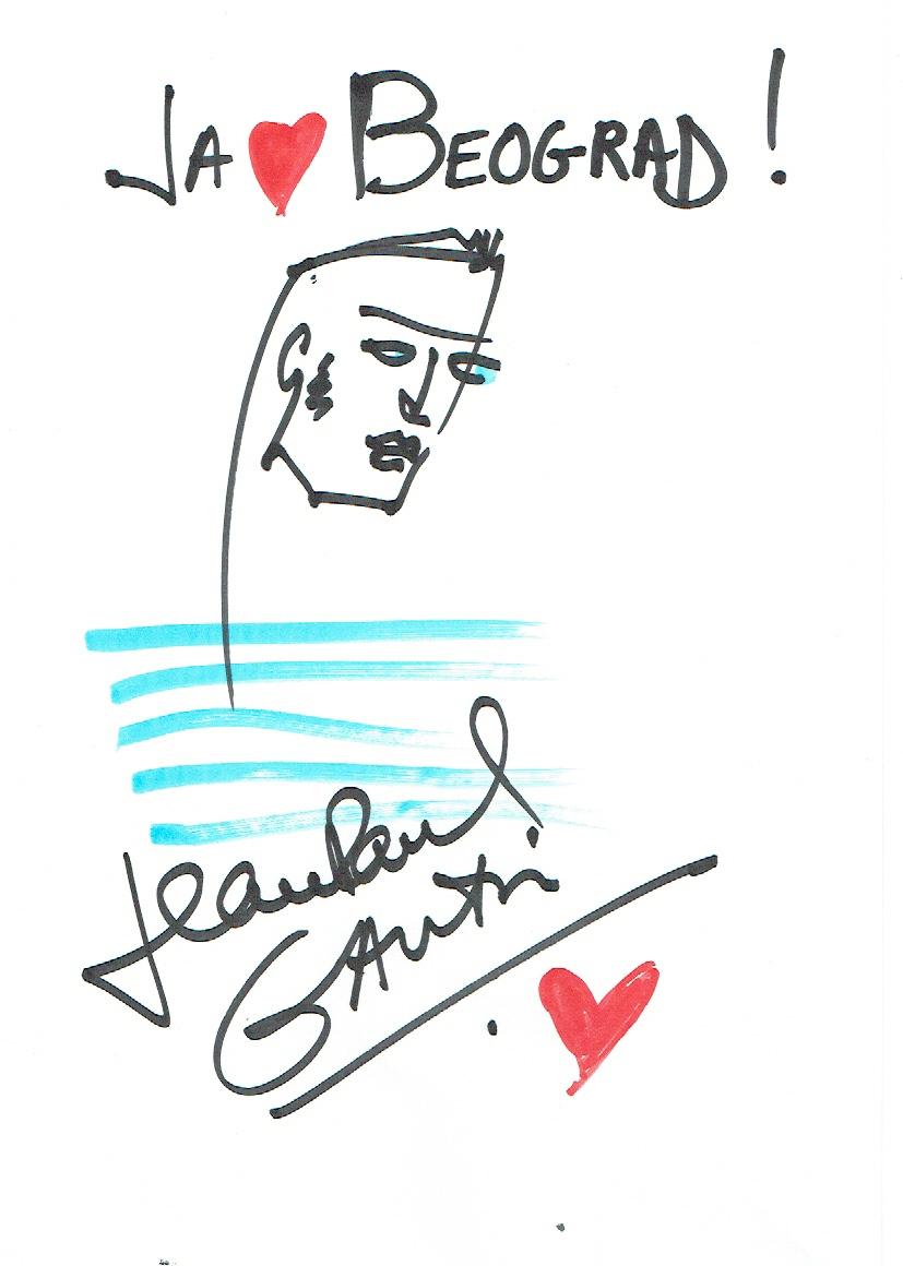 Drawing 1 Održana konferencija za medije povodom otvarnja izložbeLjubav je ljubav: radost venčanja za sve Žan Pol Gotje