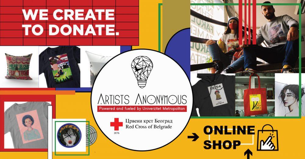 AA ONLINE SHOP Facebook post e1609157275668 Umetnost i humanost – ARTISTS ANONYMOUS (AA) ONLINE SHOP