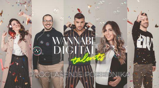 WANNABE Digital Talents: Proglašenje pobednika