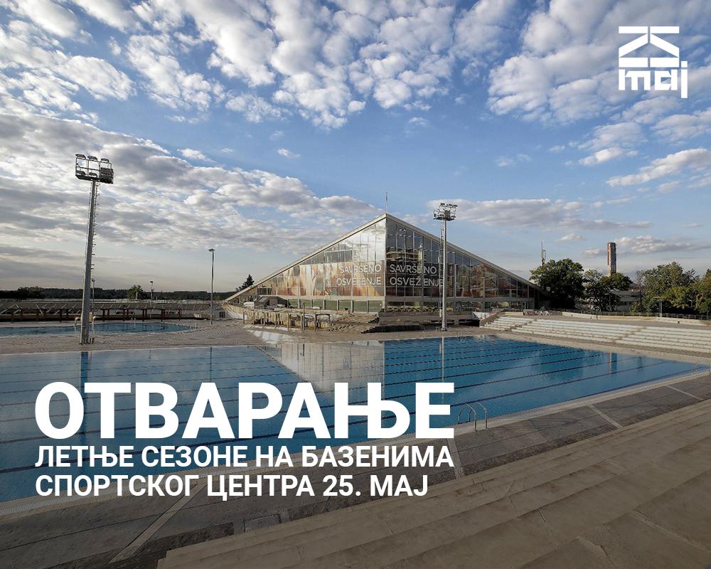14.06.2021.   Летња сајт Otvorena letnja sezona na bazenima Sportskog centra 25. maj
