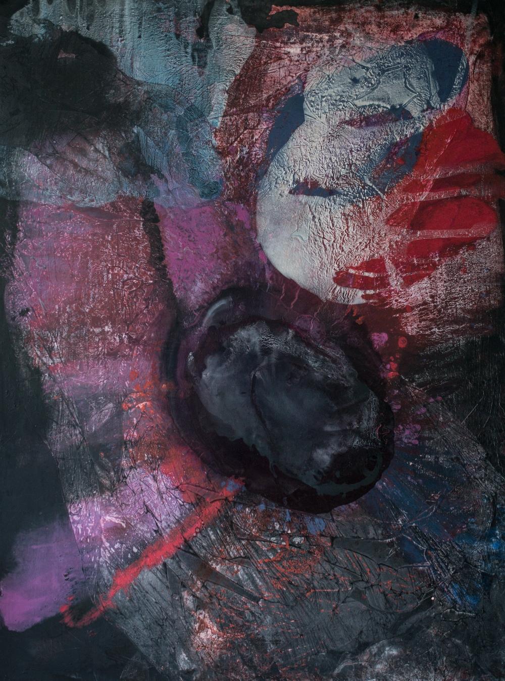 "71 Birth 150x200cm Natalija Miladinovic 2020. Umetnica Natalija Miladinović: ""Apstraktni izraz je moja čista emocija"""