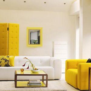 Boje u enterijeru: Žuta