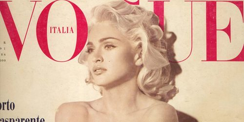 Moda na naslovnici: Pop diva Madonna kao Marilyn Monroe